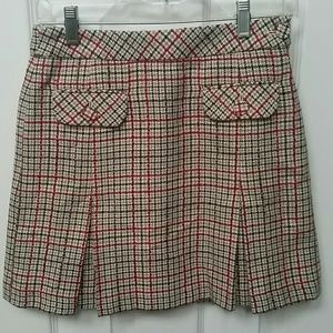 Ann Taylor plaid lined skirt